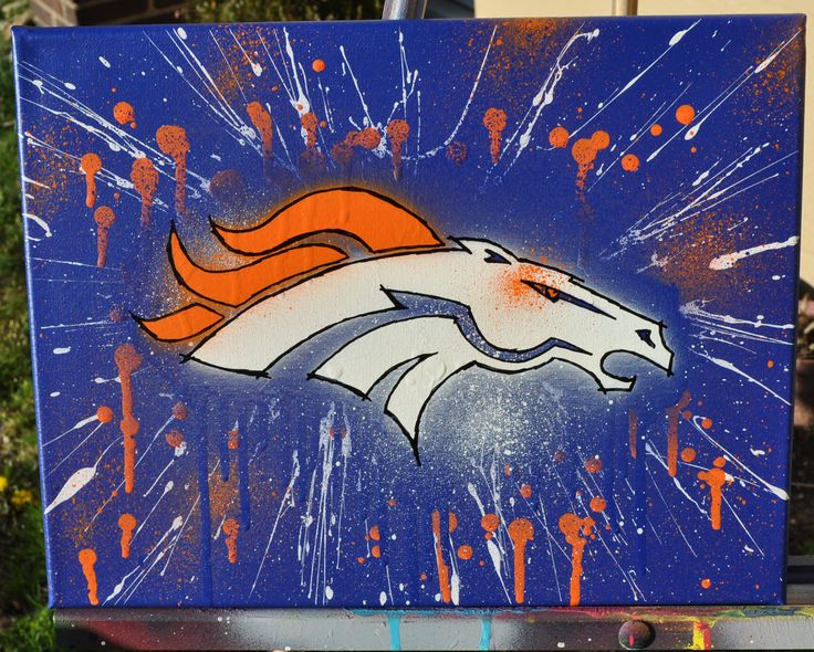Denver Broncos Fine Art by SportsArtBySummo on Etsy