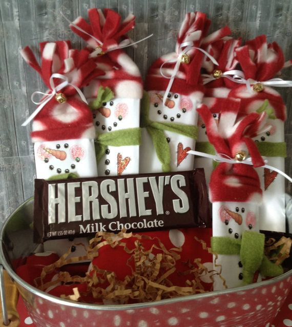 Giveaways For Christmas Party: Set Of 5 Snowman Candy Wrapper Christmas Gifts Party Favors