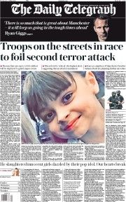 The Daily Telegraph Newspaper Front Page (UK) for 24 May 2017