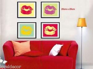 Vinilos decorativos de Labios Med.125*25cm Pegatinas decorativas de Amor Besos