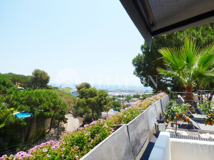 An exclusive, custom-designed house overlooking the sea, for sale in Cabrils in Maresme, Barcelona.