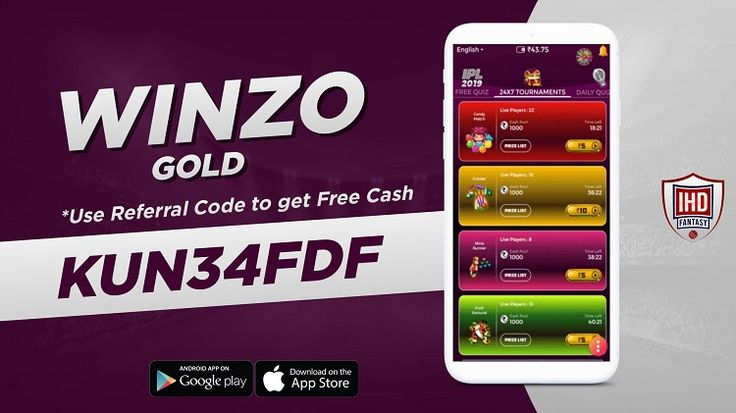 Winzo Gold Referral Code Play & Win Paytm Cash + Rs 27