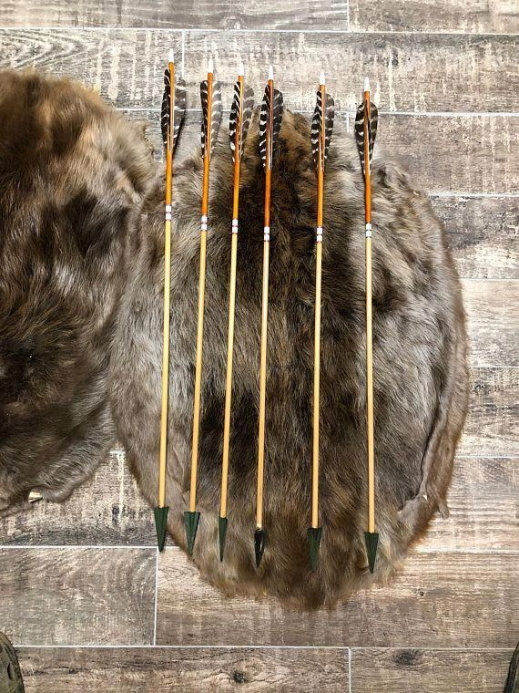 Hand Made Port Orford Cedar Hunting Arrows 30 From Tip Of Nock To The Top Of The Broadheads 45 50 Lb Spine Weight 125 Gra Hunting Arrows Bow Hunting Hunting