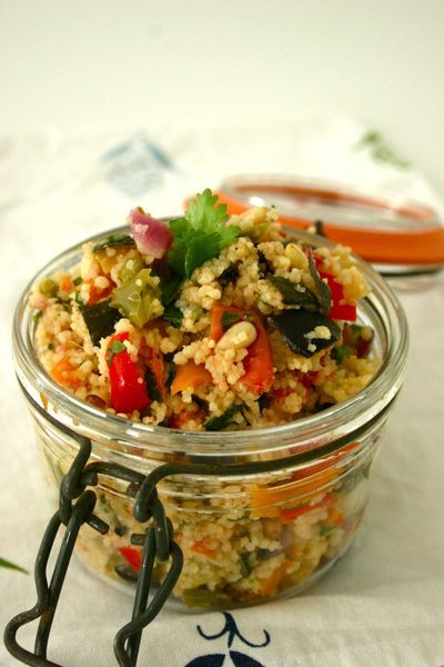 Couscous salad with Mediterranean vegetables