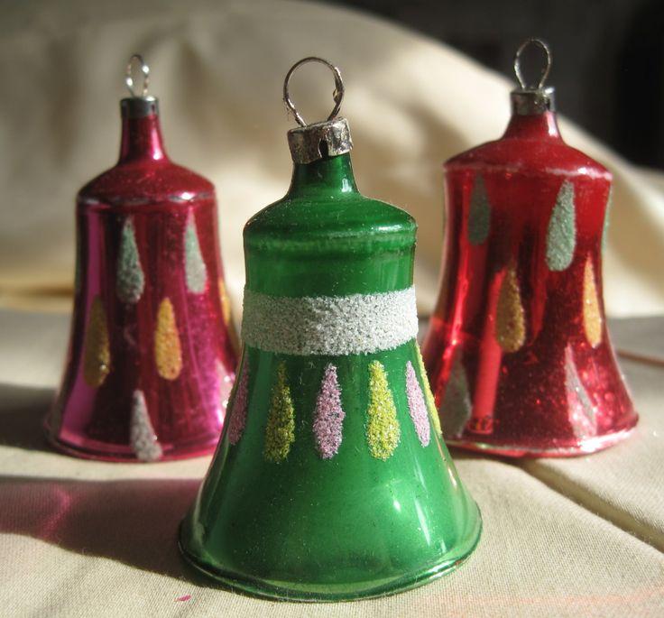 vintage mercury glass Christmas tree bells