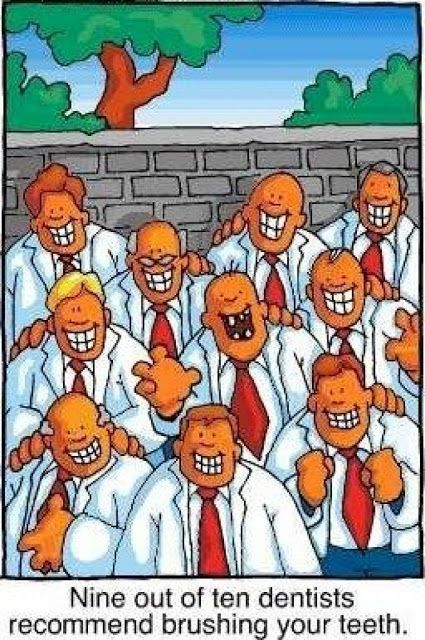 Funny Nine Out Of Ten Dentists Cartoon