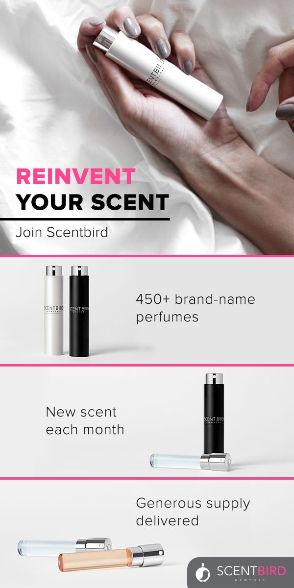 Pay just $14.95 a month and get the scent of your choice delivered to your door. And when we say generous supply, we mean it. Each month, you'll get a travel-friendly bottle filled to the brim with enough scent for 120 sprays.
