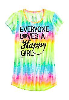 Happy Girl Graphic Long Tee