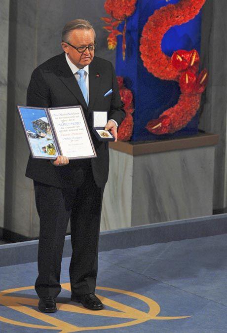 Martti Ahtisaari and Nobel, Oslo 2008 Finland