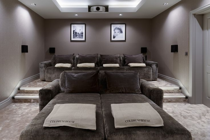 Luxury home theatre with some rather special home cinema seating. All these seats are recliner seats.