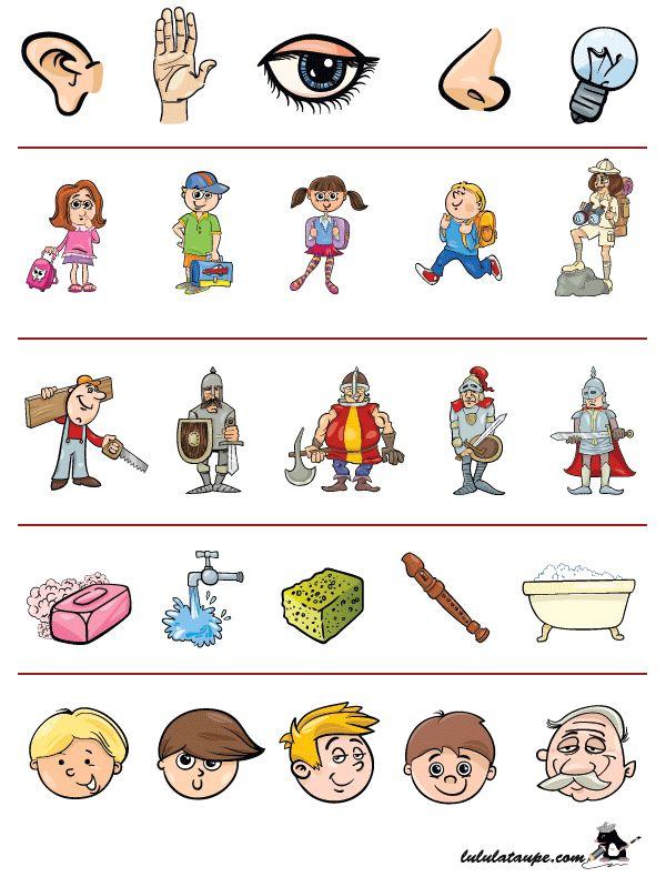 Exercice ludique pour enfants de maternelle, trouver l'intrus