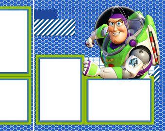 Buzz Lightyear - Disney Digital Scrapbook Quick Pages - INSTANT DOWNLOAD