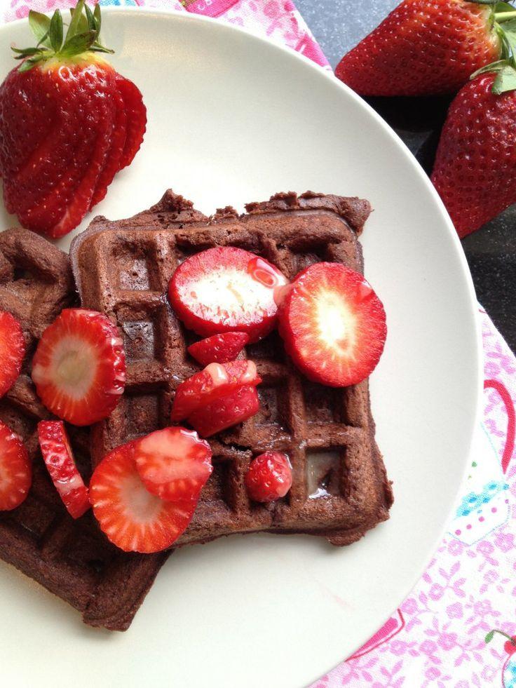 Waffles o Gofres de Remolacha y Chocolate - Paleo