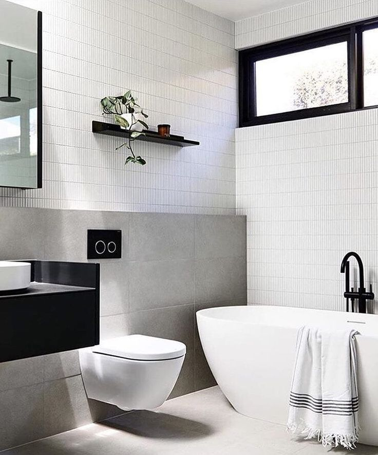 One of our popular tiles #InaxJapan Yohen Border as feature walls in the Blairgowrie House bathroom | By @studiotomdesign @plannedlivingarchitects @natjstyling  Build @madebuild Images @derek_swalwell