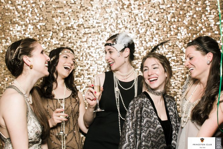 photo booth backdrop metallic glittery gold #photobooth Great Gatsby Roaring 20's #118