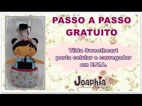 PAP GRATUITO PORTA CELULAR TILDA SWEETHEART - YouTube