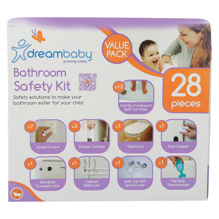Dreambaby Bathroom Safety Value Kit - 28 Pieces, White