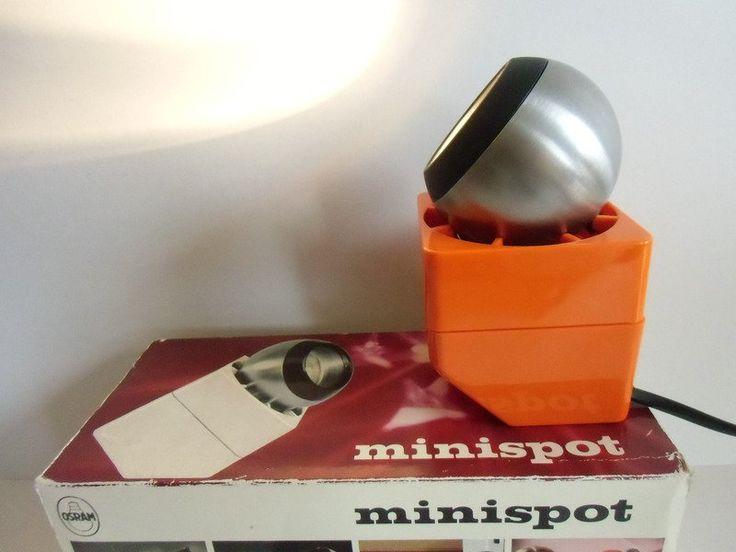 Vintage Tischlampen - Osram Halogen Leuchte Minispot NEU - ein Designerstück von MaDuett bei DaWanda