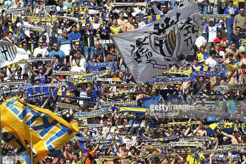 08-28 PARMA, ITALY - MAY 24: The Parma FC fans show their... #parma: 08-28 PARMA, ITALY - MAY 24: The Parma FC fans show their… #parma