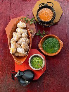Mediterrane Runzelkartoffeln mit Knoblauchsoße