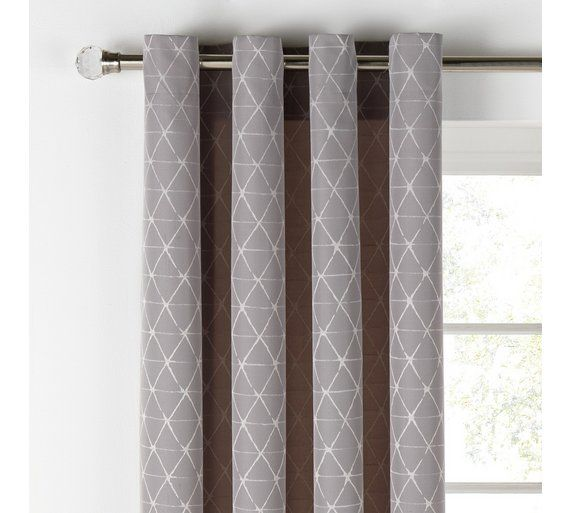 Buy Heart of House Askel Jaquard Lined Curtains - 117x137 - Grey at Argos.co.uk, visit Argos.co.uk to shop online for Curtains, Blinds, curtains and accessories, Home furnishings, Home and garden