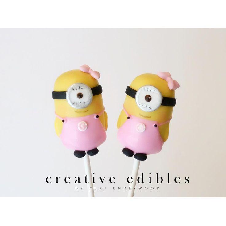 Minion! #cakepops #creativeediblesbyyuki #minion