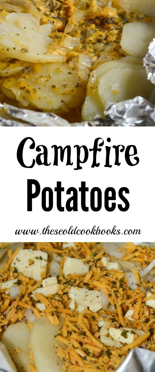 These Campfire Potatoes are the perfect side dish when you're grilling or cooking over a fire. Since they are cooked in a foil packet, clean up is a snap.