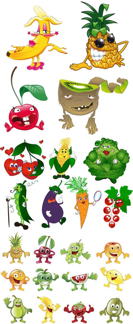 cartoon fruit and vegetable displays for kids - Google Search