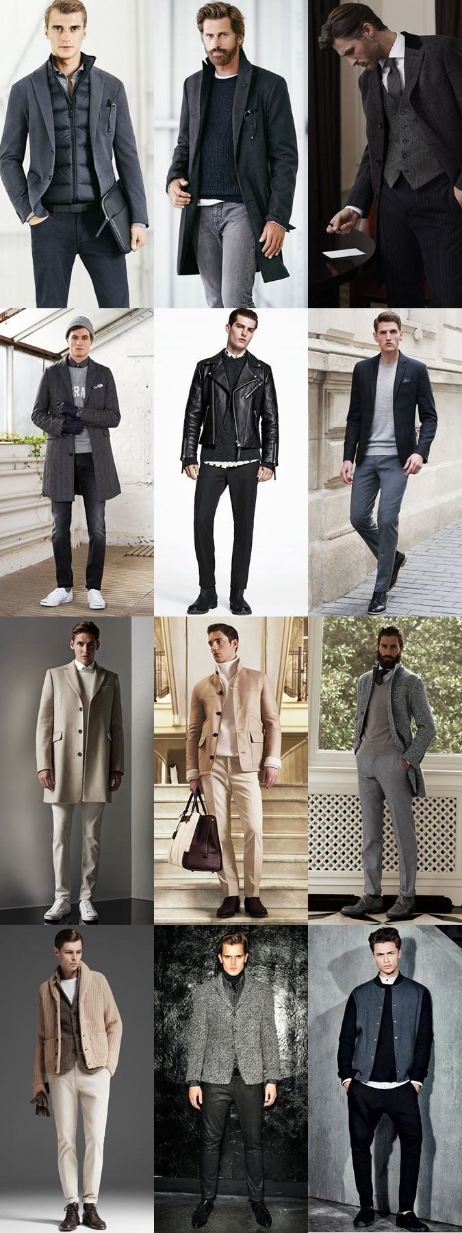 5 Key Men's 2015 Autumn/Winter Fashion Trends From London Collections: Key Look - Head-To-Toe Neutrals, Wear It Now Lookbook Inspiration