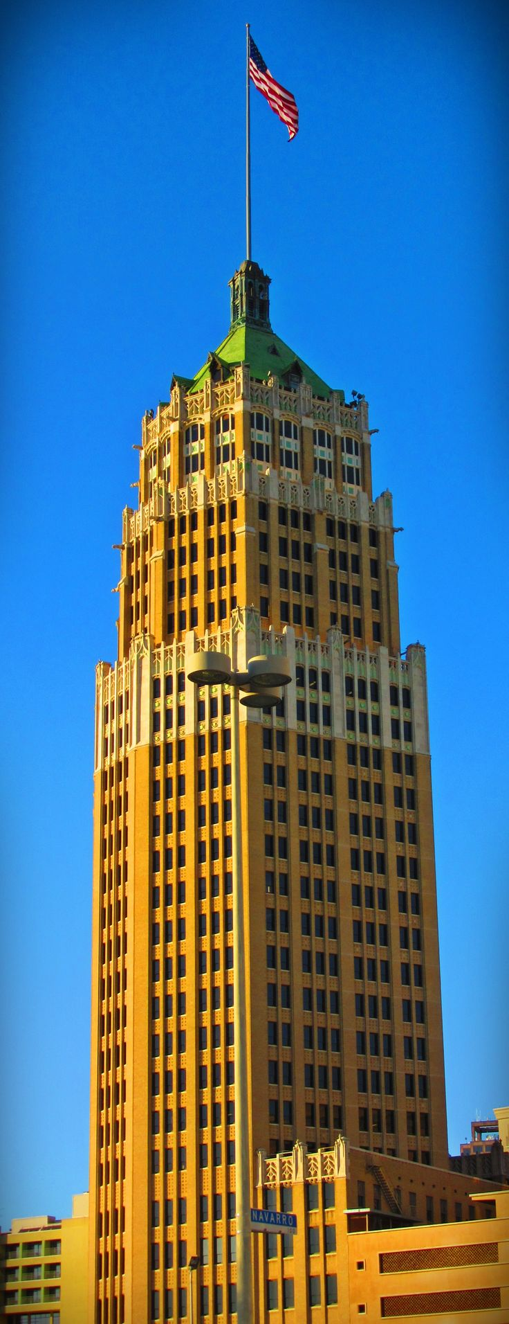 The iconic Tower Life Building - great Art Deco architecture in San Antonio, Texas