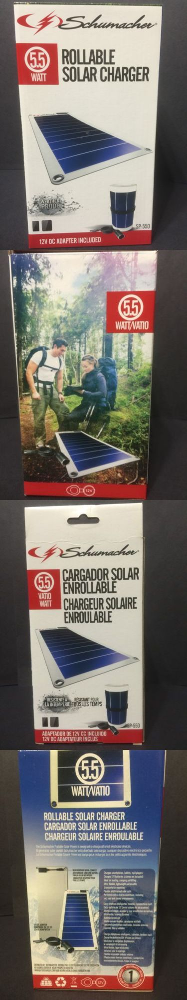Generators and Heaters 16039: Schumacher Rollable Solar Charger 5.5 Watt With 12V And Usb BUY IT NOW ONLY: $79.99