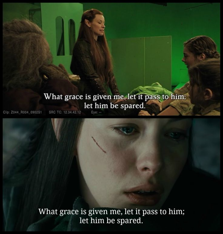 """""""GUYS GUYS GUYS look what I found on the DOS EE extras!!! Tauriel speaks the Elvish translation to Kili what Arwen says to Frodo at the crossing of the Bruinen. #DEAD"""""""