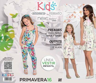 Catálogos Andrea 2016 para Mexico. Hojea moda infantil de primavera, como: Ropa y zapatos para niños y niñas de todas las edades