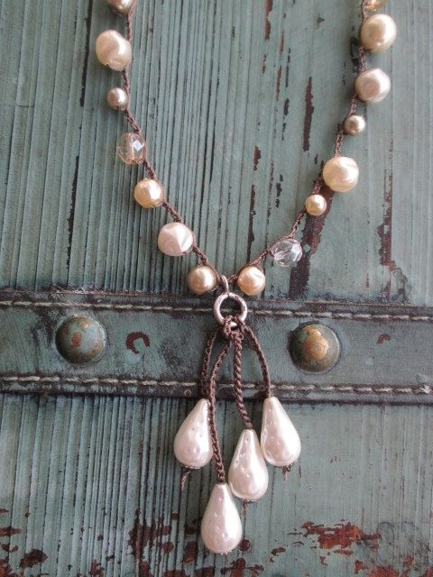 Hey, I found this really awesome Etsy listing at https://www.etsy.com/listing/199088809/pearl-crochet-tassel-necklace-baby-pearl
