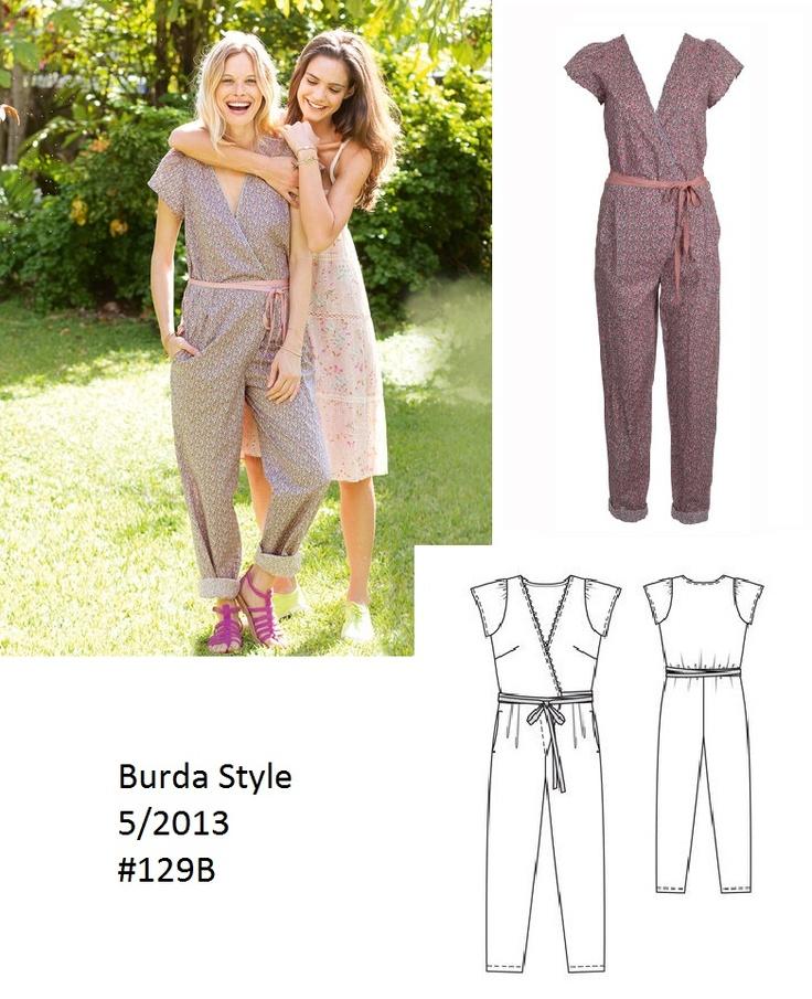 Burda Style Long wrap jumpsuit 5/2013 #129B