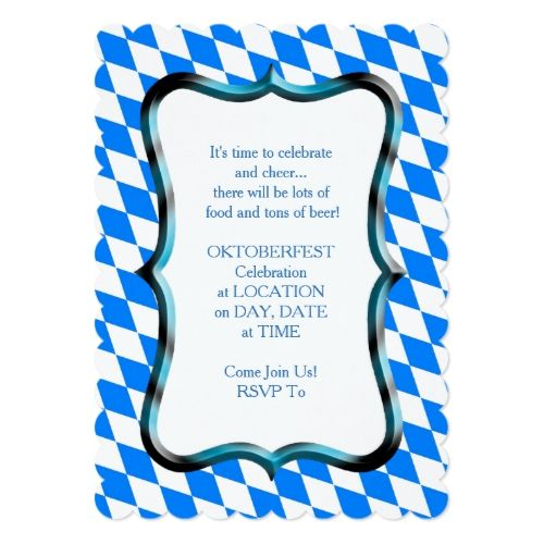 Bayerische Art Oktoberfest Party Einladung | Zazzle – OKTOBERFEST Personalized Gifts