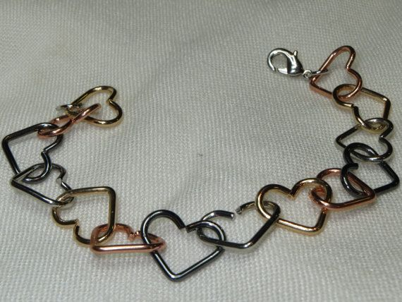 Heart Bracelet Valentine Gift Valentine Jewelry Linked by Thielen