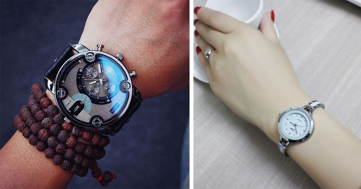 Un reloj de pulsera es el que se lleva en la muñeca sujeto con una correa de piel, metal o de diversos materiales plásticos. En un principio, los relojes de pulsera eran poco populares para los varones, que preferían el reloj de bolsillo y desdeñaban los de pulsera porque los creían similares a una joya femenina.