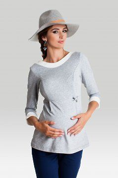 Bluza Pentru Gravide Chic Mum Grey