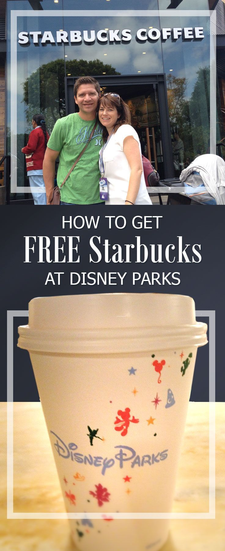 How to get FREE Starbucks coffee at treats at Disneyland and Walt Disney World. Where to find free samples and snacks too!