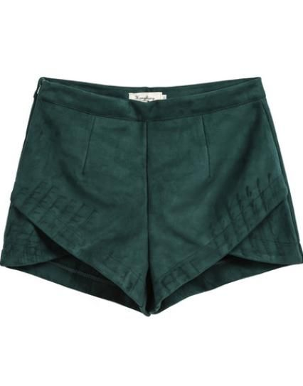 How to Dress Like a Fashion Editor on a Student's Budget | StyleCaster Green Overlay Shorts, $22; at She Inside