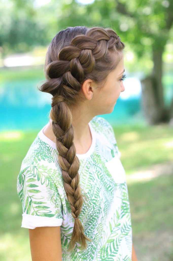 Hairstyles For Prom Cgh : Deep side part hairstyle with a 5 strand braided accent. ig