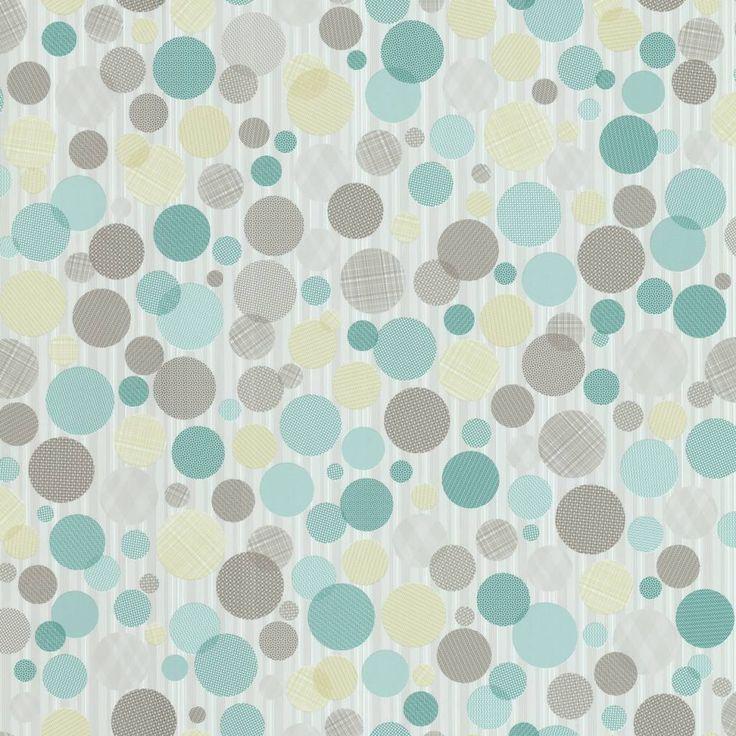 Tres Tintas Behang Confetti turquoise bruin 20372 Behang
