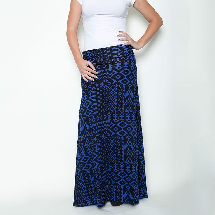 black and blue nightfall aztec honey lace maxi skirt 41