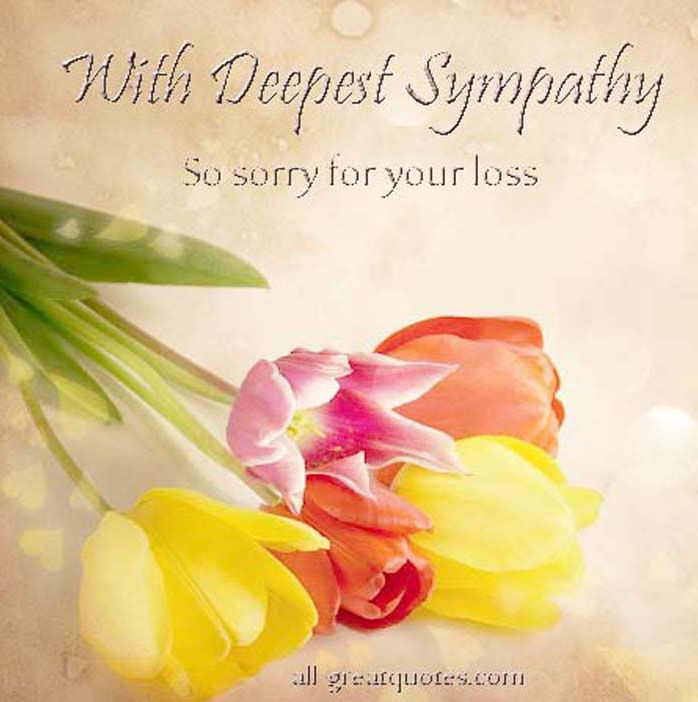 Deepest Sympathy Messages | Condolences, Sympathy, In Loving Memory On Facebook