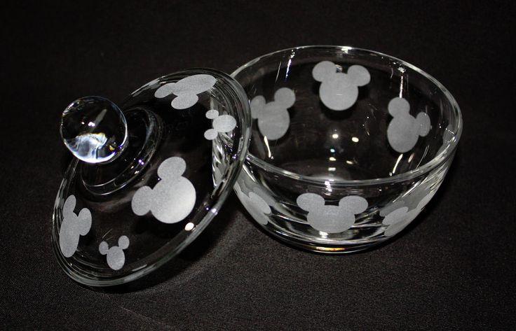 MICKEY MOUSE  KITCHEN GLASS SUGAR DISH * NEW STYLE*
