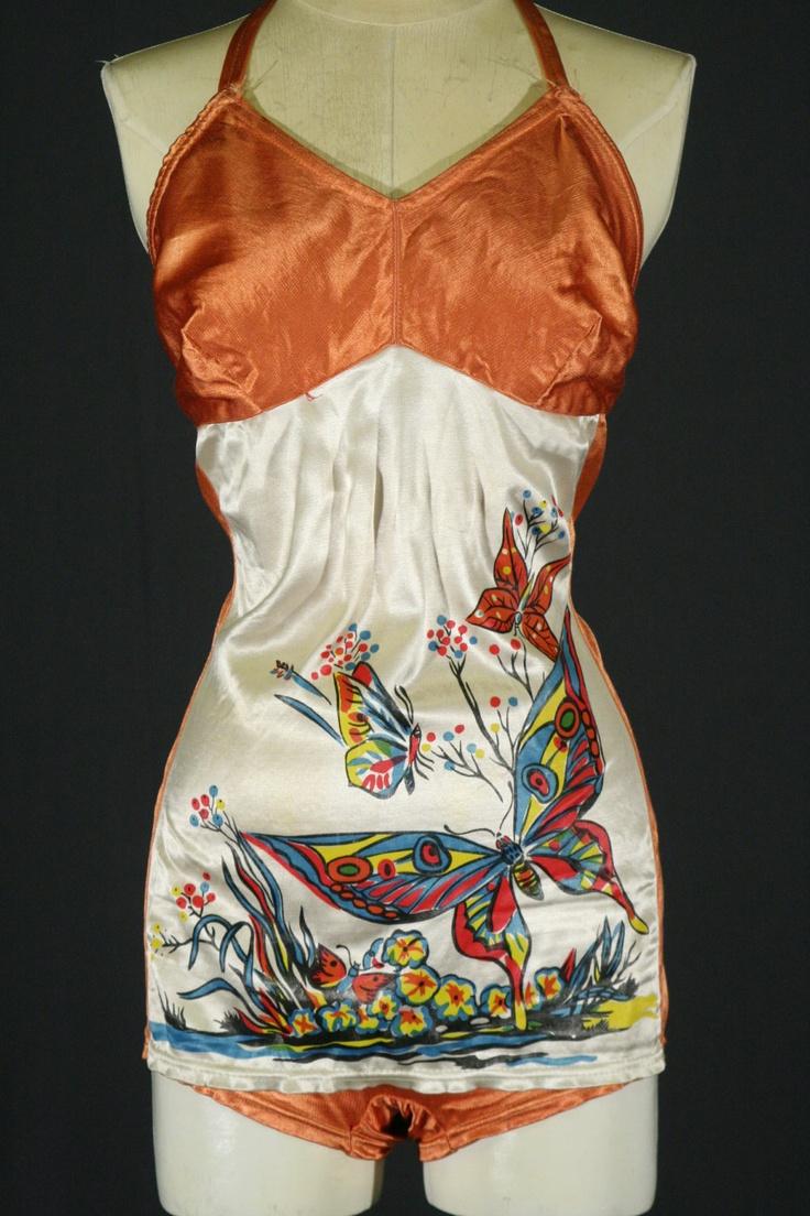 1940's Satin Swim Suit.