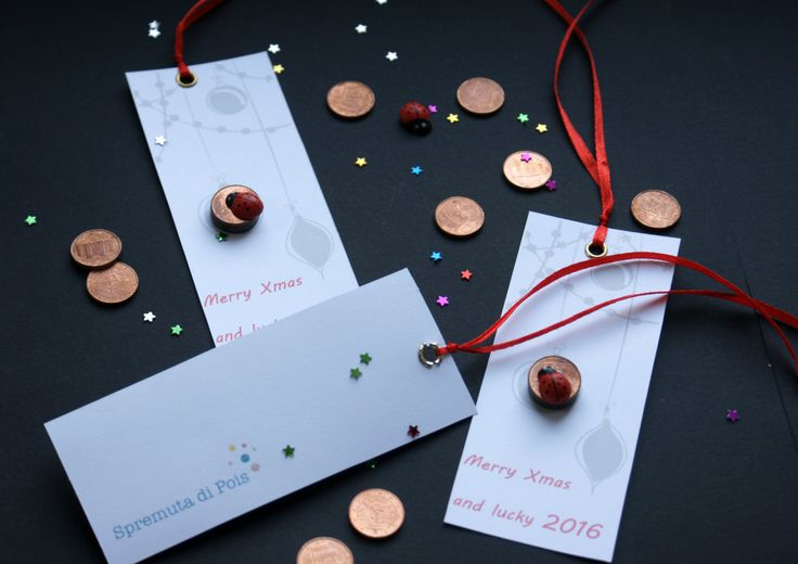 good luck, segnalibro, merry xmas, party favor o bomboniera originale di spremutadipois su Etsy