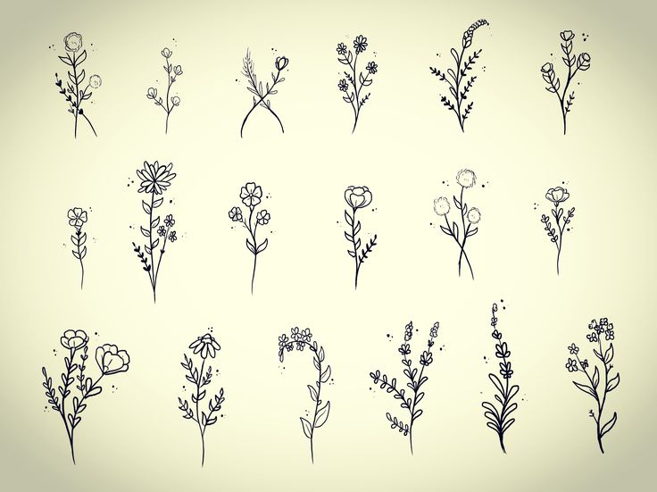 25 small flower tattoos for Small flower designs