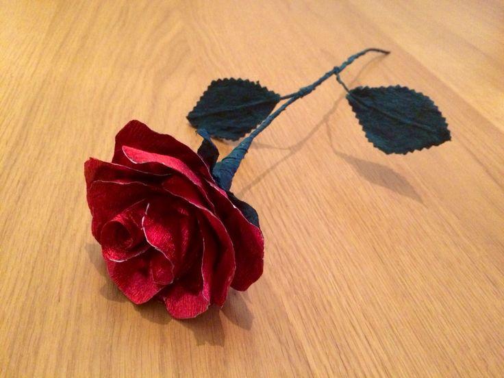 Paper crepe rose